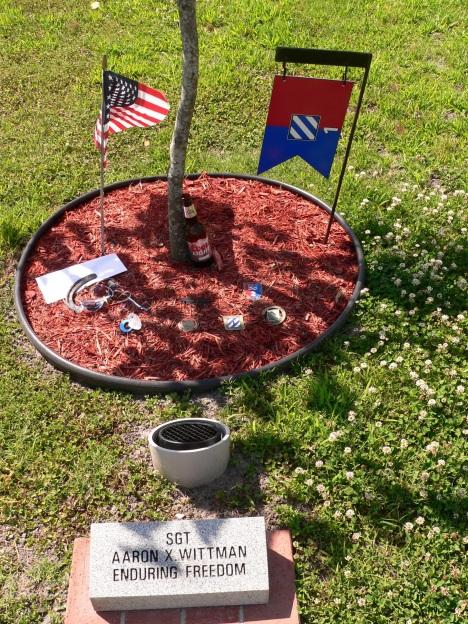 SGT. Aaron Wittman's tree on Warrior's Walk at Fort Stewart.
