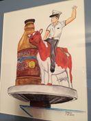 A cadet rides the Cogburn Cow